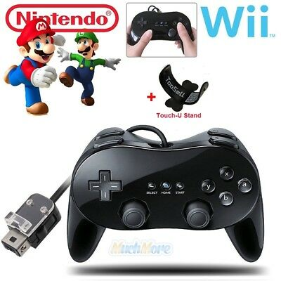 Wired Classic Controller Pro Gamepad for Nintendo Wii Remote Console Video Game