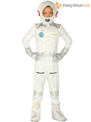 Child Astronaut Costume Boys Girls Space Uniform Fancy Dress Kid Book Day Outfit