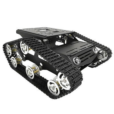 Robot Smart Tank Chassis DIY Dual 12V Motor Shock Absorbed Robot Tank Car