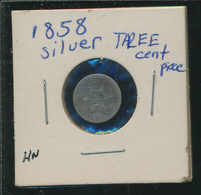 Three Cent Silver 1858