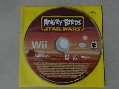 EUC Star Wars Angry Birds - Nintendo Wii Game Disc Only Free Ship