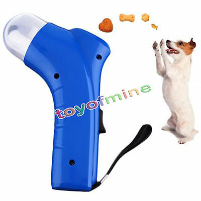 Dog Treat Launcher Pet Feeders Food Training Tool Fun Outdoor Cat Puppy Toy US