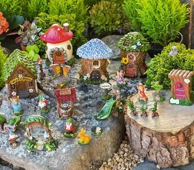 (NEW) Garden Fairy Houses and Accessories