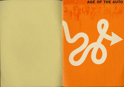 1960 Lester Beall AGE OF THE AUTO Experimental Typographic Design Promo Booklet