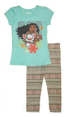 Disney Girls Moana Two-Piece Legging Set Size 2T 3T 4T 4 5 6 6X