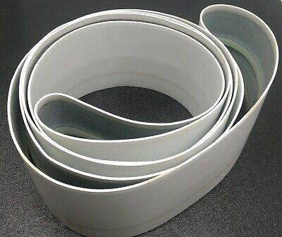 """Conveyor Belt 3-5/8"""" Wide, Approximately 110"""" Long, White, Guide In Center"""