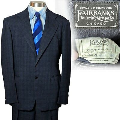 Vintage early 1940s Fairbanks Tailoring Company Mens Suit 40 33.5x30.5