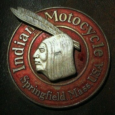 "INDIAN Motorcycles    Vintage Emblem    FRIDGE Magnet 3"" x 3"""