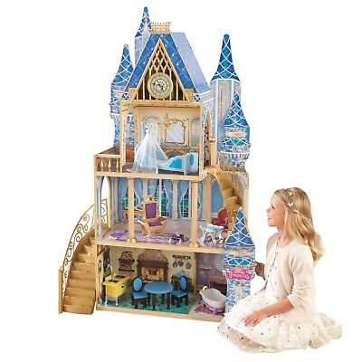 Large Wooden Kids Doll House Barbie Kit Girls Play