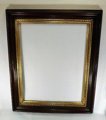 "LARGE Antique 19th C. Walnut & Lemon Gold Picture Frame Shadow Box 36"" x 30"" VGC"
