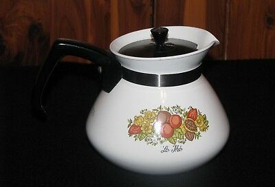 Vintage Corning Ware 'Le The' SPICE OF LIFE 6 cup Tea Pot P-104 with Lid