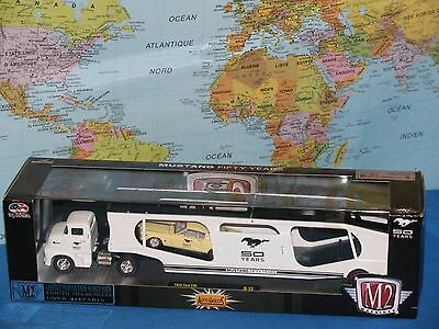M2 Machines 50 Years Mustang 1956 Ford Coe & 1965 Ford Mustang 2+2 Fastback 289