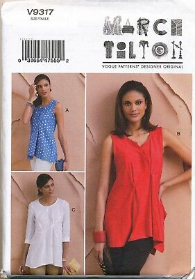 Vogue Sewing Pattern 9317 Misses 16-26 Marcy Tilton Loose Fitting Tops Plus Size