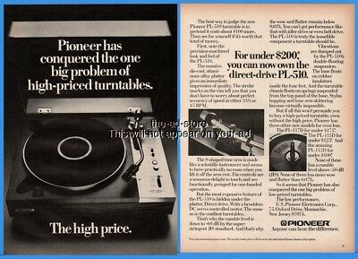 1976 Pioneer Electronics Stereo Turntable PL 510 Under $200 Magazine Print Ad