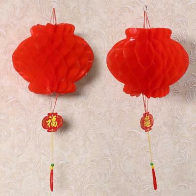 2pcs Chinese Red Lanterns For New Year Chinese Spring Festival Wedding Decor