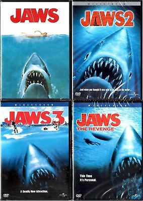 JAWS Complete Collection DVD Lot 1 2 3 4 The Revenge 4 shark movie set Brand NEW