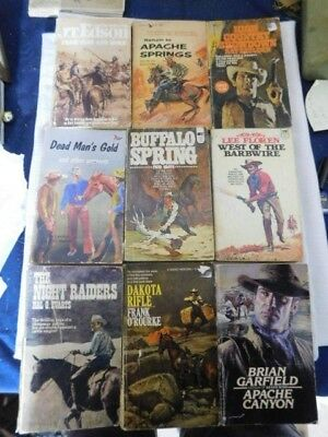 Lot Of 9 Western Book Lot Paperback Horses Wild West Saddles