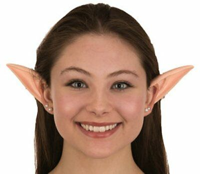 Adult Long Large Rubber Elf Peter Pan Fairy Pixie Costume Pointed Alien Ears Tip