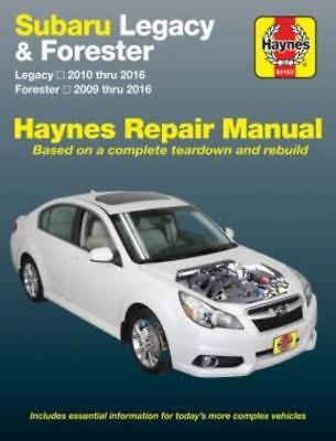 Haynes Workshop Manual Subaru Legacy 2010-16 Forester 2009-16 Service Repair