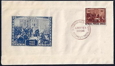 Romania Feb 16 1953 922 On First Day Cover Oil Industry Strike At Grivita Feb 16