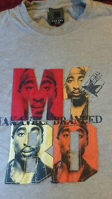 MAKAVELI BRANDED TUPAC 2pac Zip Jacket Sewn Letter Embroidered Sz