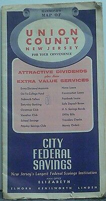 1960 Hammond Street Map of Union County by City Fedral Savings Bank