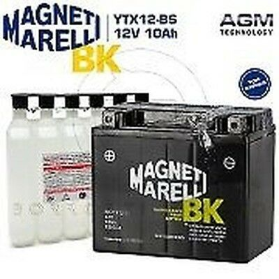 BATTERY MAGNETI MARELLI YTX12-BS 12V 10Ah PIAGGIO BEVERLY RST 300 4T ie 2011