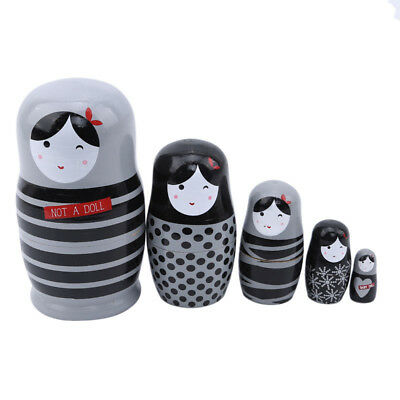 Russian Nesting Dolls Russian Matryoshka Hand Painted Stacking Toy Home Decor LG