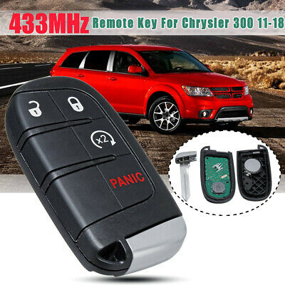 For 2015 2016 2017 2018 Dodge Journey 4B Keyless Smart Remote Car Key Fob Blade
