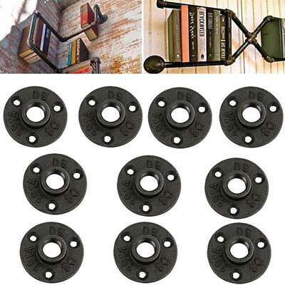 Malleable Threaded Black Floor Flange For Pipe Furniture LC