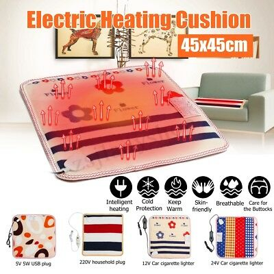 Electric Heating Blanket Thermal Heated Heat Pad Warmer Pet Dog Bed Mats Car USB
