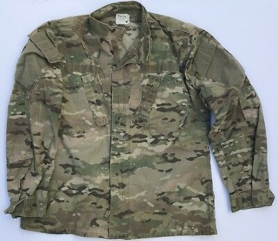 US Army Multicam FR Combat Uniform ACU Coat Jacke Jacket XLL XLarge Long