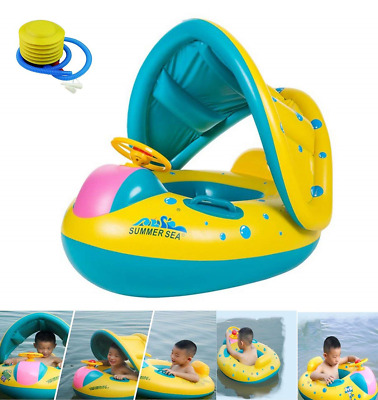 HBONE Inflatable Baby Pool Float Swimming Ring Seat Boat Yacht, Floating Toy...
