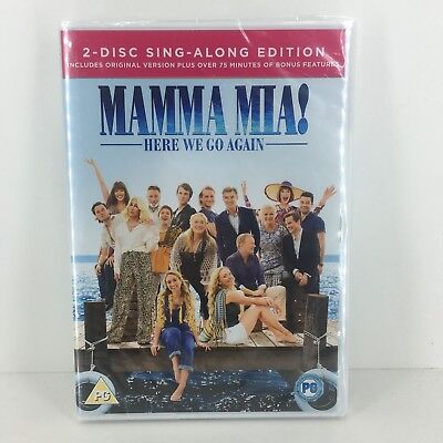 Mamma Mia! Here We Go Again DVD - New and Sealed Fast and Free Delivery