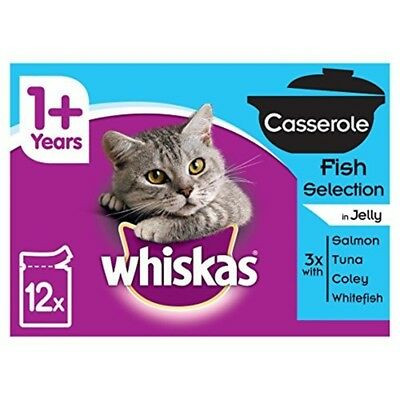 Whiskas Pouches Casserole Fish Selection Cat Food, 85 G - 1 Jelly Pack 4 48 12