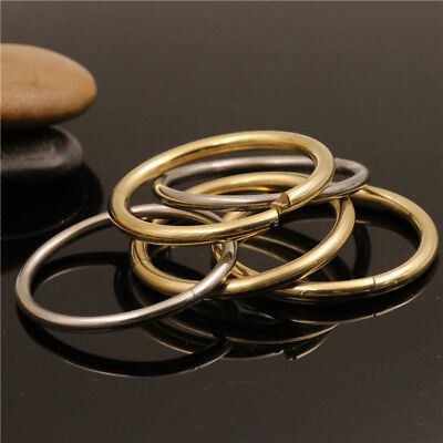 Solid Brass/Stainless Steel Split Lock O Ring Quick Release Keychain Loop S-XL