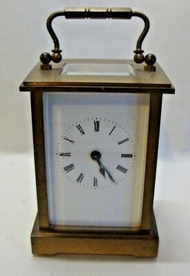 Early 20th century brass cased carriage clock