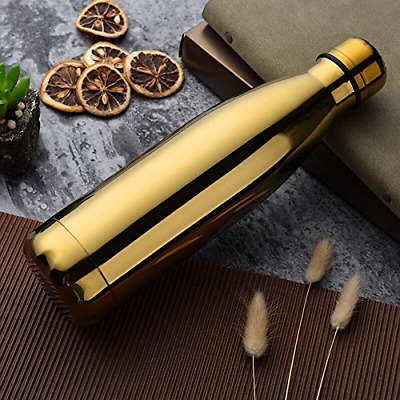 Hot & Cold Water Bottle/Flask - 500 ml (Gold) - Double Wall Stainless Steel