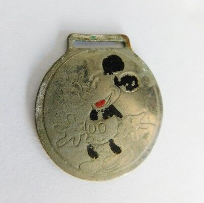 Vintage Ingrsoll 1933/34 Mickey Mouse Pocket Watch Fob Walt Disney