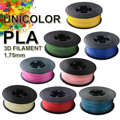3D UNICOLOR PLA Filament 1kg 1,75 mm Drucker Printer Spule Rolle 1000g