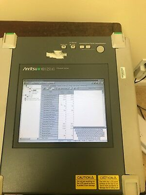Anritsu MD1231A Network Analyzer 10GBs RFC-2544