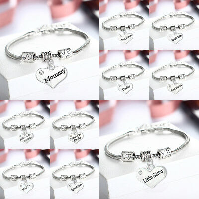 Perfect Thank You Gift Charm Bracelet Wedding Bridesmaid Favour Present Heart