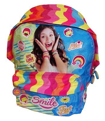 Disney Soy Luna backpack for kids, girls colorful nursery hoard leisure New