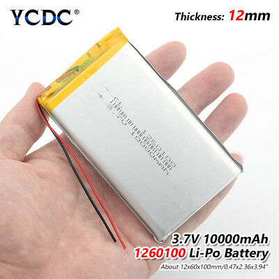 3.7V 10000mAh Li-polymer Battery 1260100 For DVD Tablet MID GPS Electric Toys 5