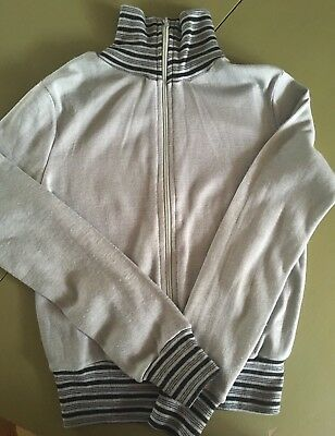 RARE VINTAGE 60s LADIES STRETCH TRACKSUIT TOP JACKET SIZE 8 NORTHERN SOUL