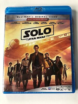 Solo: A Star Wars Story Blu-Ray + Digital Code NEW SEALED