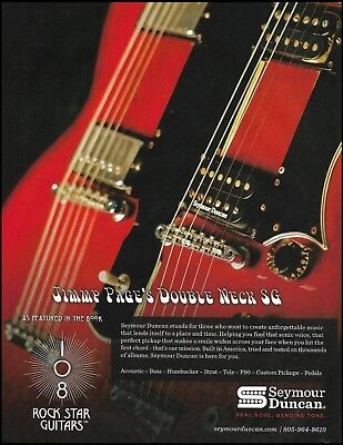 Jimmy Page Gibson Double Neck SG Guitar with Seymour Duncan Pickups 8 x 11 ad