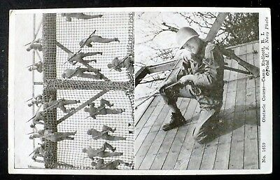1940s Camp Endicott, Rhode Island Seabees Swarm Obstacle Course