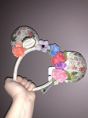 2018 Epcot Flower and Garden Festival Minnie Mouse Disney Ear Headband NWT