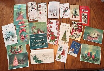 57 Unused Vintage 40's 50's 60's Christmas Cards Several Different Styles ++